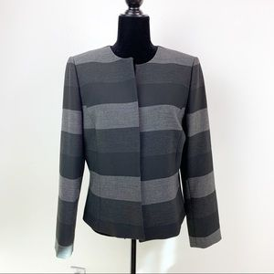 Striped Chic Work Blazer